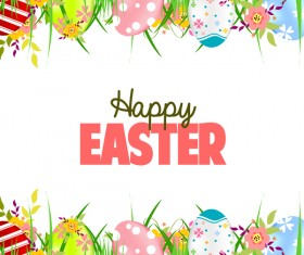 Happy easter backgorund illustration vector