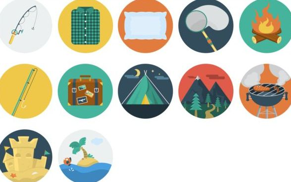 Holiday vintage icons