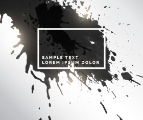 Ink grunge background abstract vector 01