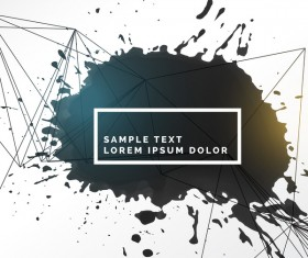 Ink grunge background abstract vector 02