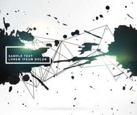 Ink grunge background abstract vector 04