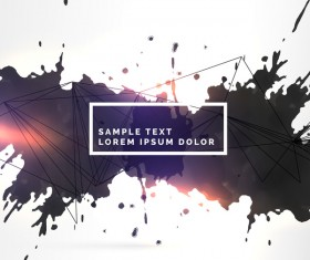 Ink grunge background abstract vector 05