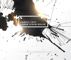 Ink grunge background abstract vector 08