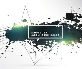 Ink grunge background abstract vector 09