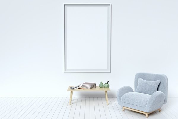 Interior with White Picture Frame Stock Photo 04 free download