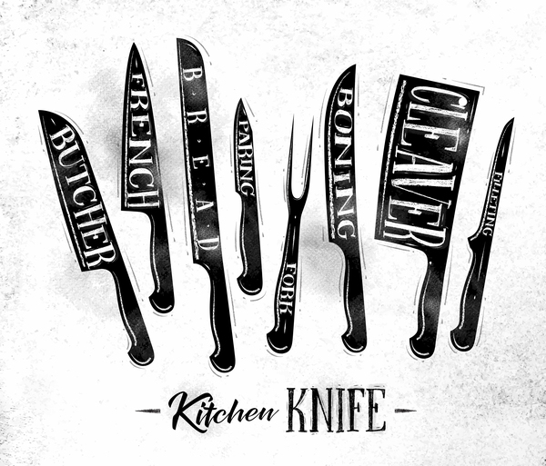 Kitchen Knife Vector kitchen knife poster template vector 04 - vector cover free download