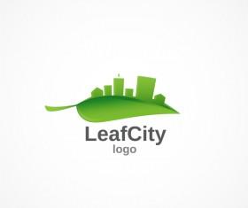 Leaf city logo design vectors