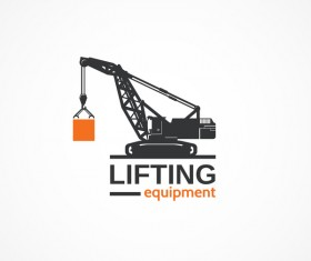Lifting equipment logo design vectors
