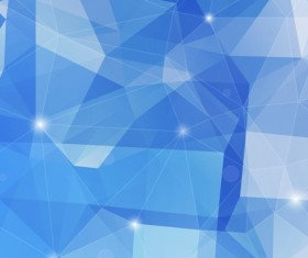Light blue geometric polygon background vector