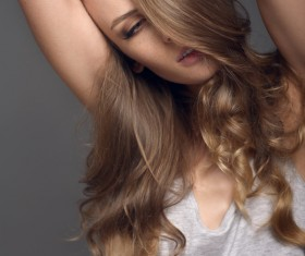 Long-haired young beautiful woman HD picture 05