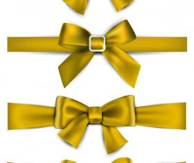 Luxury golden bow vector