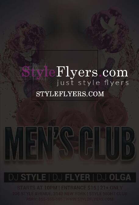 Man Club PSD Flyer Template