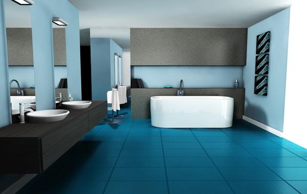 Modern Bathroom Design Stock Photo 04