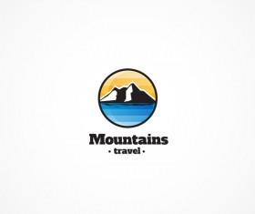 Mountains travel logo design vectors
