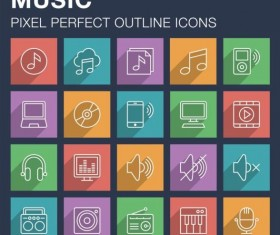 Music outline icon