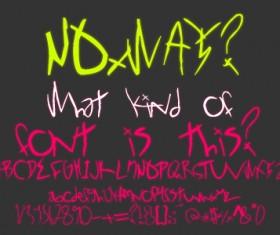 NOxWAY fonts pack