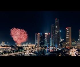 New Year fireworks around the world Stock Photo 01