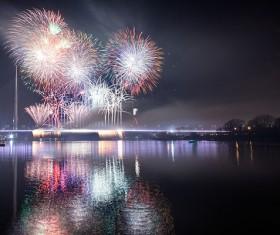 New Year fireworks around the world Stock Photo 02