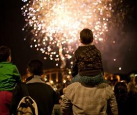 New Year fireworks around the world Stock Photo 04
