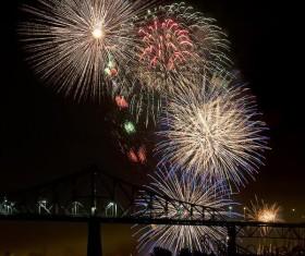 New Year fireworks around the world Stock Photo 06