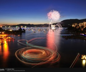 New Year fireworks around the world Stock Photo 16