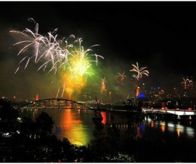 New Year fireworks around the world Stock Photo 17