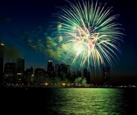 New Year fireworks around the world Stock Photo 22