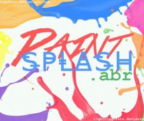 Paint splash photoshop brushes