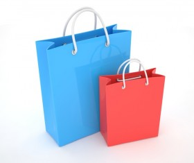 Paper shopping bags Stock Photo 02