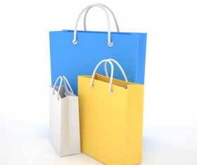 Paper shopping bags Stock Photo 04