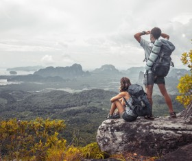 Peak couple watching the sea HD picture