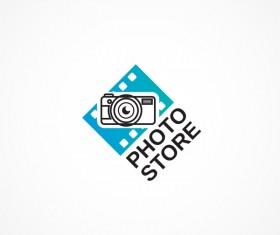 Photo store logo design vectors
