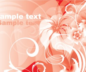 Pink background pattern with flower vector