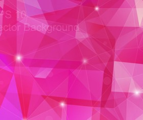 Pink geometric polygon background vector material