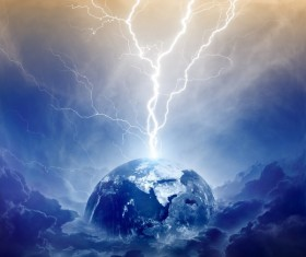 Planet Lightning Stock Photo