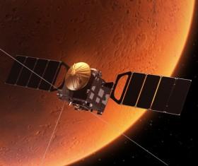 Planetary and cosmic exploration satellites Stock Photo