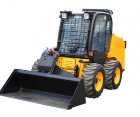 Protective forklift Stock Photo