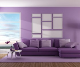 Purple home improvement effect HD picture