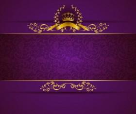 Purple royal background luxury vector