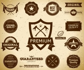 Quality labels retro styles vector 02