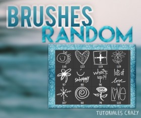 Random hand drawn photoshop brushes
