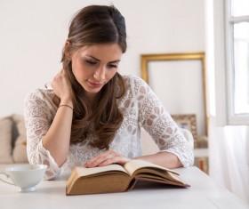 Reading woman Stock Photo 01