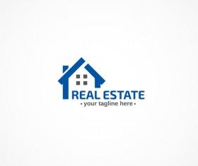 Real estate logo design vectors