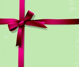 Red bow gift card vector