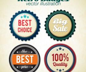 Retro badge vector illustration 01