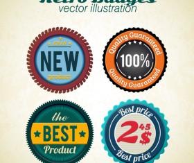 Retro badge vector illustration 02
