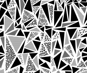 Retro seamless pattern white with black vector 01