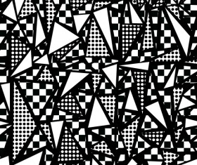 Retro seamless pattern white with black vector 02