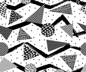 Retro seamless pattern white with black vector 03