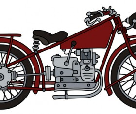 Rtero motorcycle drawing vectors material 01